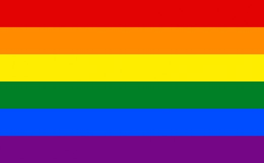 Gay and Lesbian pride flag