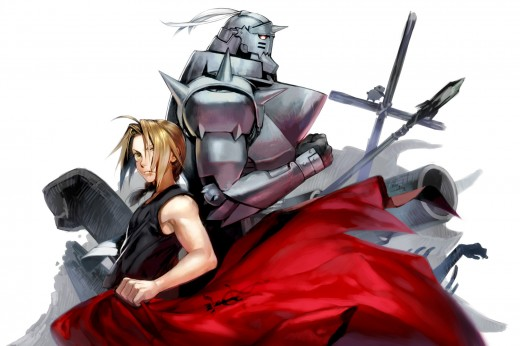 This image contains the 2 main characters Edward and Alphonse Elric