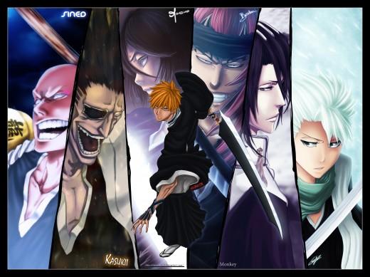 this image contains the character Ichigo Kurosaki and others who i wont name due to spoiler reasons.
