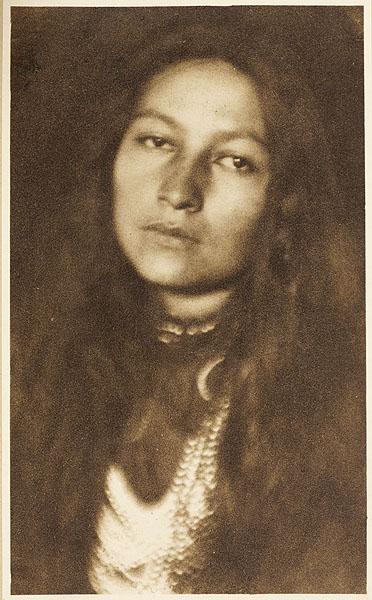 Native American Writer Zitkala-Sa:  Photograph  by Joseph Keiley, b.1869 - 1914