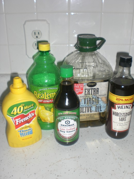 Ingredients for the marinade.
