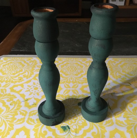 Candle stick now have a new look and a new purpose. (Jade green sparkle)