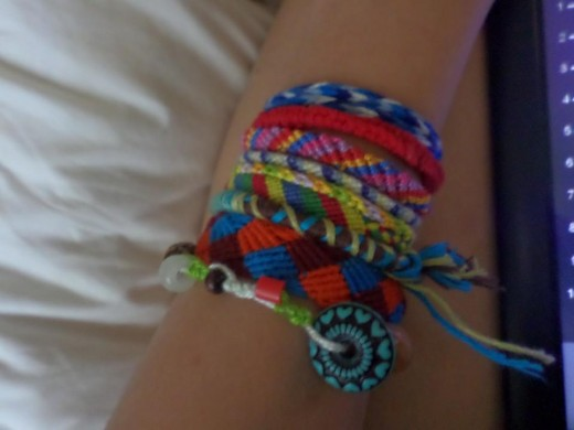 Bracelets from the 2014 camp season