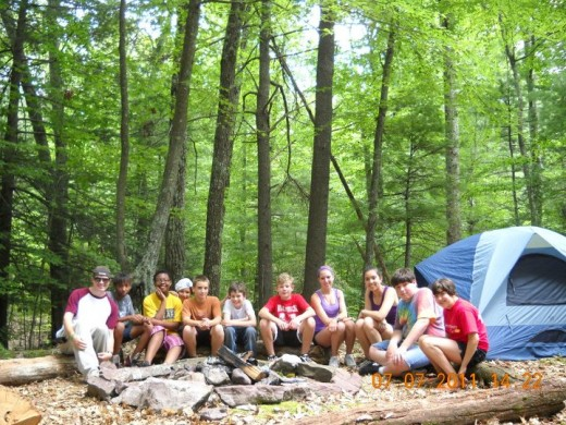 Camping class 2011 Even in classes we become a family