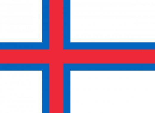The official flag of the Faroe Islands
