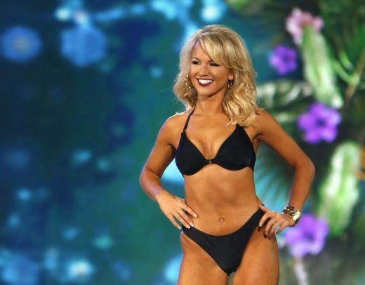 Miss America 2016  in swimsuit competition.