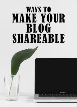 Make Your Blog Shareable
