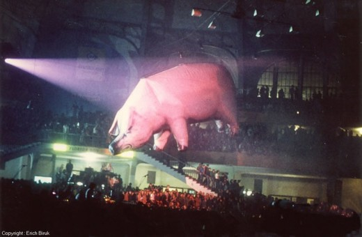 Pink Floyd's Animals was released in 1977, this is their tour the same year.