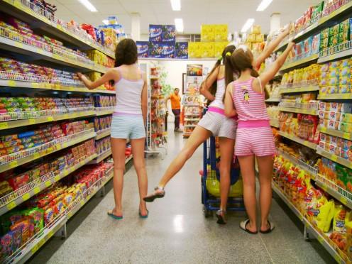 Modern-day supermarket.