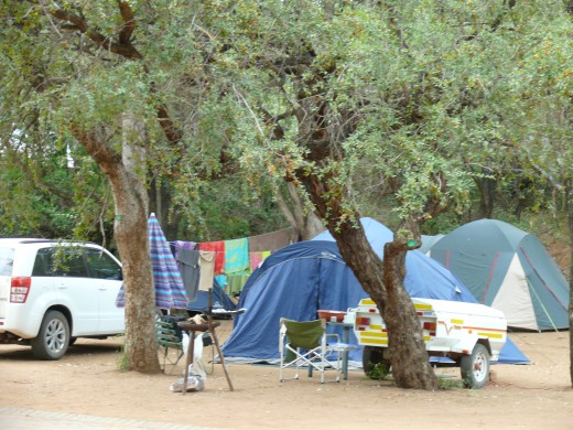 Our tent in Kruger Campground at Berg en Dal