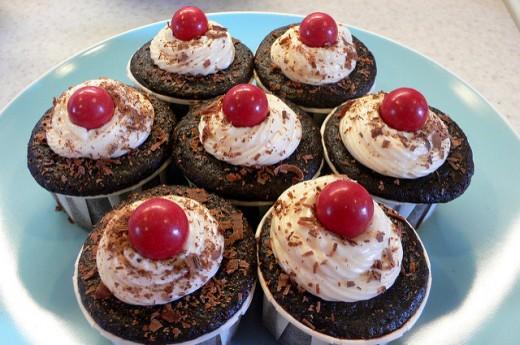Delicious vegan cupcakes.
