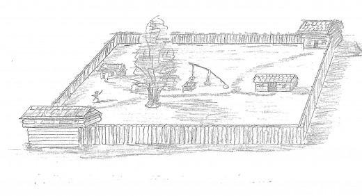 A prairie fort