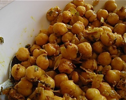 Vegan Lunch Recipes - Curried Chickpeas