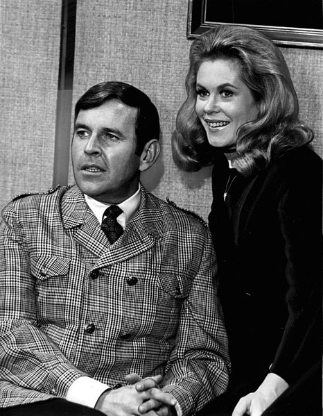 Paul Lynde and Elizabeth Montgomery, promoting the April 28, 1968 episode  of the ABC comedy series Bewitched.