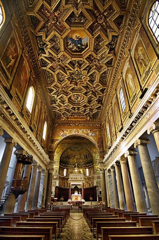 The church in trastevere.