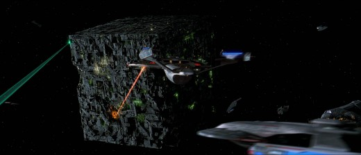 The Enterprise arrives to save Worf.