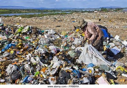 Large portions of Myanmar has tons of trash scattered all over the place.