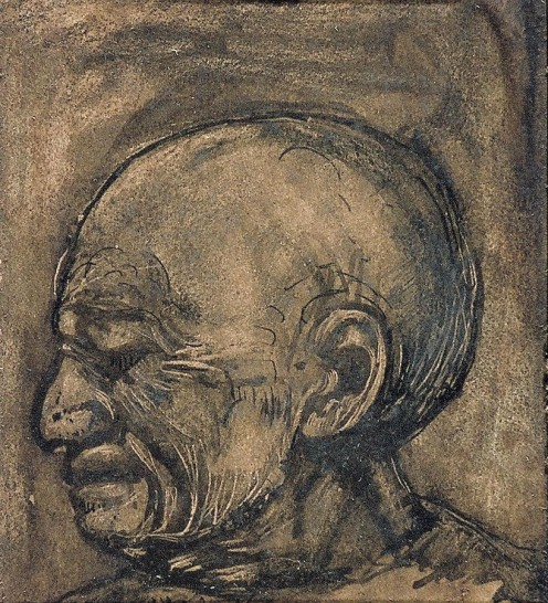 Man crying by Theo van Doesburg .