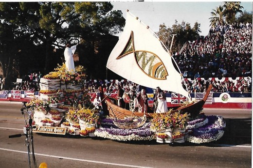 "The Lutheran Hour 1995 Rose Parade float:  ""Follow Me ... and I will make you fishers of men."" Mark 4:19"