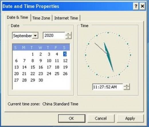 Windows System Date Settings Malfunctioning