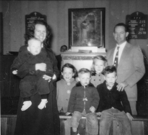 1954, My father had become a successful preacher and pastor by the time this church photo was taken at the Church of God in Joppa, Maryland.