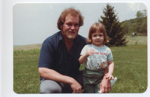 My baby brother, Phillip, shown here with his daughter, Yvonne, on the front lawn at Mountain Hill Road shortly before his death at the age of thirty.