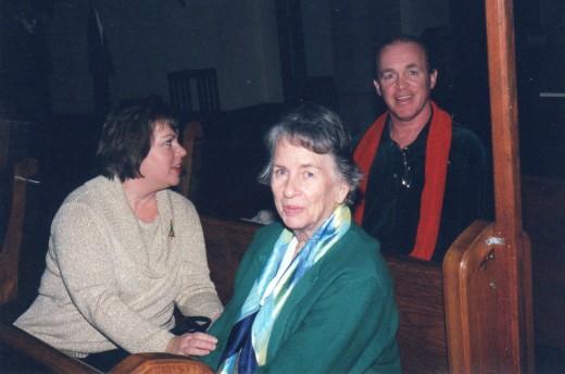 2009, Resa, Mama and me at my church on Christmas Eve.