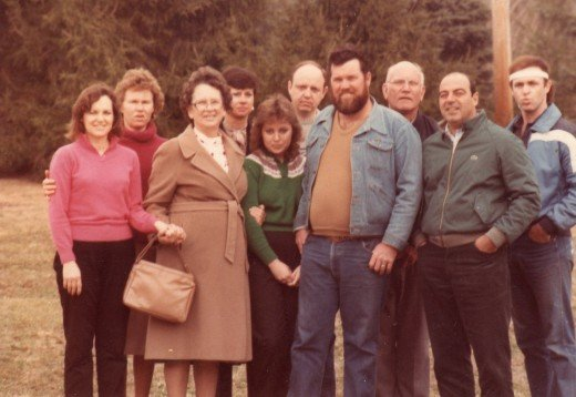 After Phillip's funeral in 1984, family posed for a photo on the front lawn with Mama.