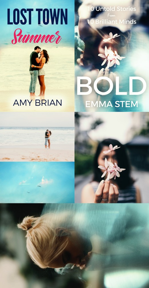 Unsplash inspired book cover designs