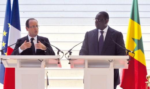 Macky Sall and François Hollande, former president of France.