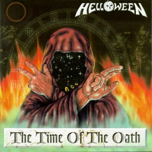 On the cover of the album is a wizard. Helloween's album covers are similar in style to those of Blind Guardian
