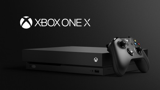 The new and improved Xbox One X.