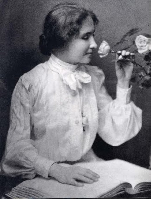 Helen Keller was blind and deaf