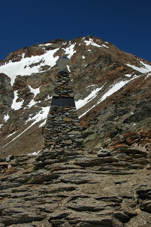 Otzi Memorial  Hauslabjoch  Pass