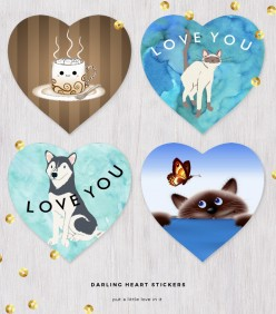 Cute, Sweet, Zazzle Heart Stickers