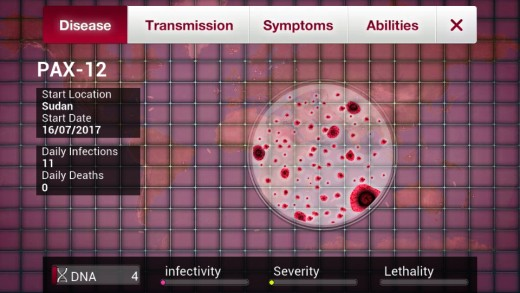 Plague Inc. - The Disease Menu