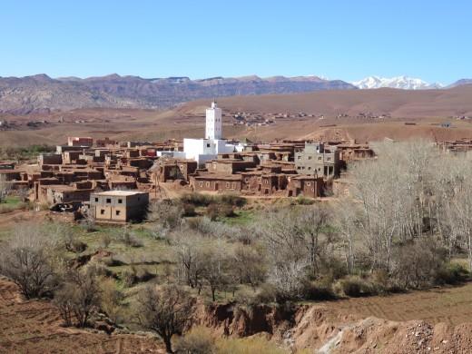 Views from roof of Telouet Kasbah