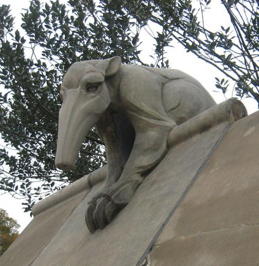 Carved Anteater. (Often misidentified as an Aardvark).