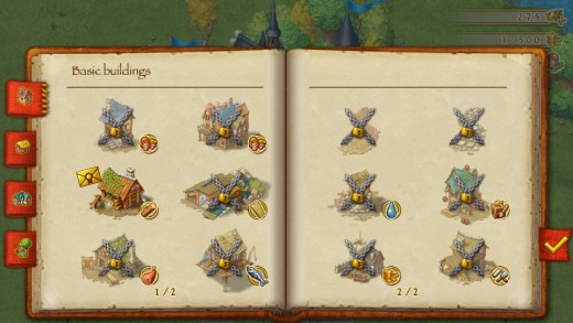 Townsmen - Buildings Menu