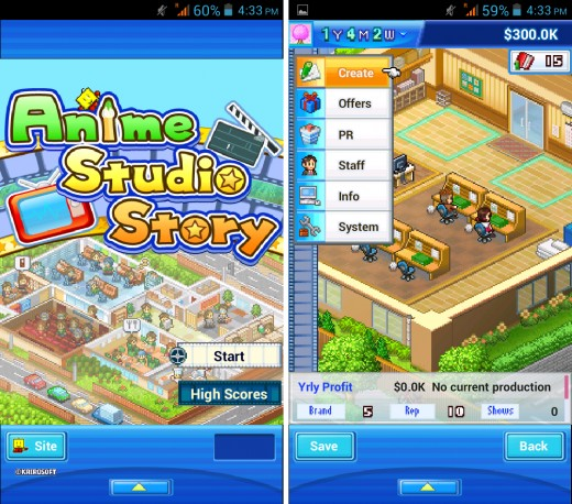 Anime Studio Story - Kairosoft Android Game