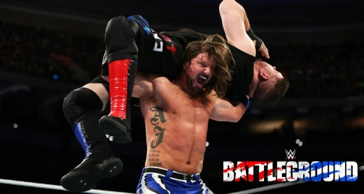 AJ Styles v Kevin Owens. Photo: WWE