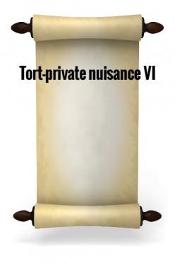 Tort-Private nuisance VI