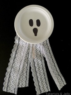 How To Make A Paper Plate Ghost