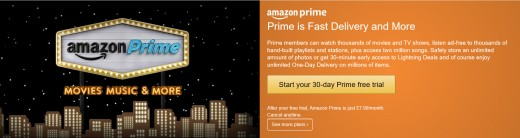 Amazon Prime promises fast delivery and more.