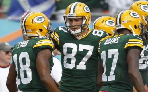 Packers wide receiver trio:Randall Cobb, Jordy Nelson, and Davante Adams