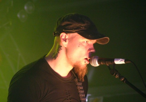 Tuomas Saukkonen is seen here at the Tuska Open Air Festival in 2008.