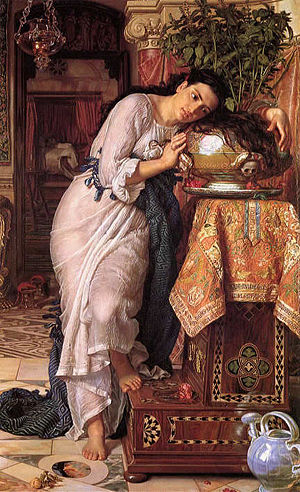 """Isabella, or the Pot of Basil (1818) is a narrative poem by John Keats adapted from a story in Boccaccio's Decameron (IV, 5). It tells the tale of a young woman whose family intend to marry her to """"some high noble and his olive trees"""", but who falls"""