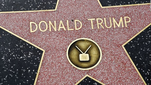 The Hollywood Walk Of Fame Star Of Donald Trump