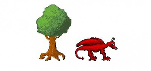 Here is a tree and a red dragon I made! Pixel art is really fun and doesn't take much to get started.