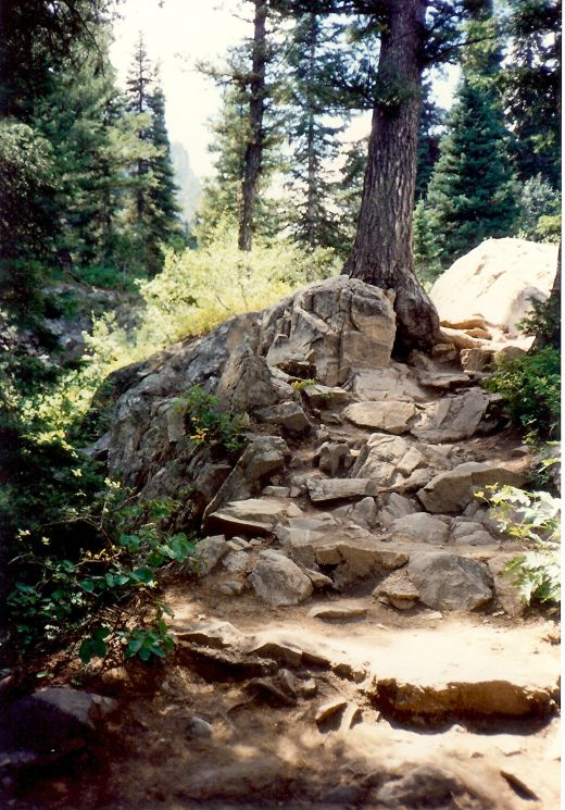 Sometimes rocky paths were ahead of us.